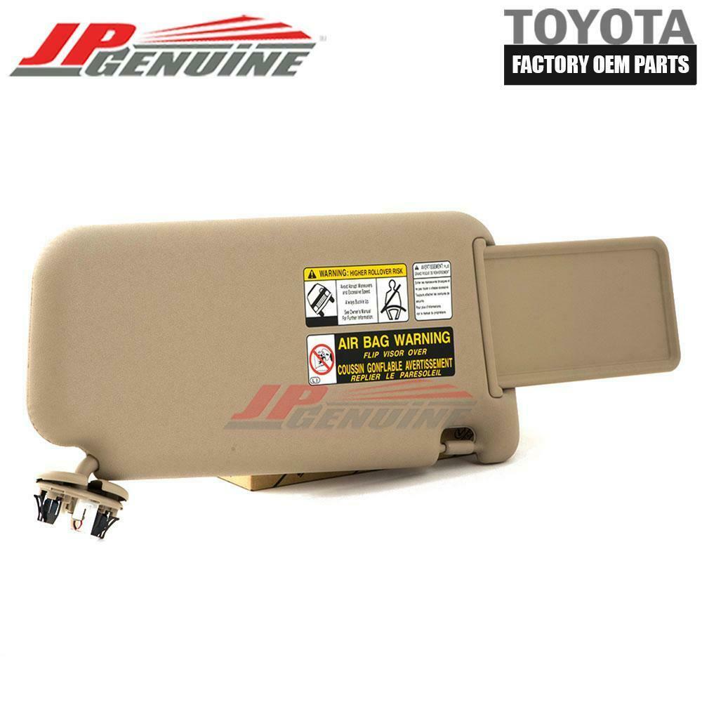 DRIVER SIDE GRAY SUN VISOR 74320-42501-B2 LH GENUINE TOYOTA 06-09 RAV4 OEM