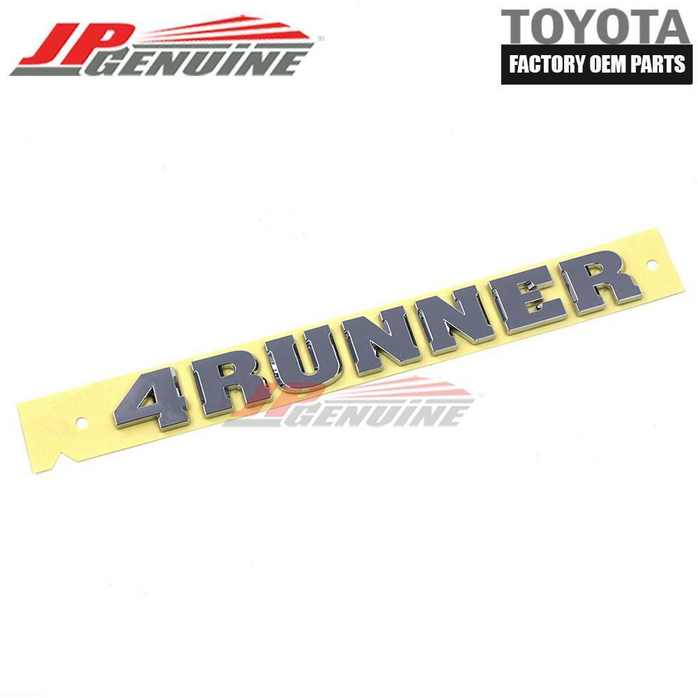 GENUINE TOYOTA 4RUNNER 03-09 LUGGAGE COMPARTMENT DOOR NAME PLATE OEM 75445-35050